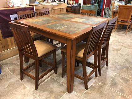 Slate Kitchen Table Home Styles Stone Harbor Piece Round Patio