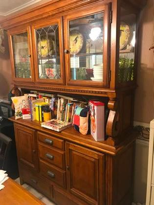 China Cabinet Solid Wood China Cabinet With Ample Storage Below And Plenty  Of Room For Display On Top. Measures 5 Wide X 6 1/2  Tall X 20  Deep.